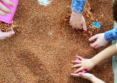 playing with seeds